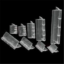 10pcs durable clear acrylic folding hinges transpa plexiglass hinge 5 sizes