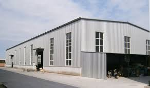 All the Metal Structure of Steel Structure Prefab Shed Storage Building are  fabricated in workshop , after cutting , welding , drilling and painted  ready ...