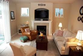 nice small living room layout ideas. Nice Accent Wall Colors Schemes Of Contemporary Small Living Room Design With Fireplace And Brown Leather Layout Ideas