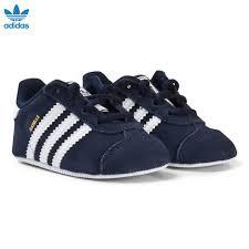 Adidas Crib Shoe Size Chart Adidas Originals Navy Gazelle Crib Shoes Babyshop Com
