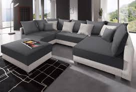 Wohnlandschaft U Form Gunstig In U Form Sofa Couch Lava U