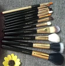 mac makeup brush set zipper bag