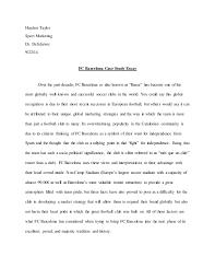 fc barcelona case study essay jpg cb  haydon taylor sport marketing dr deschriver 9 22 14 fc barcelona case study