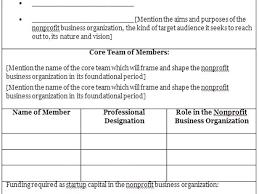 Nonprofit Business Plan Template Proposal Template For Non Profit Organization Template Non