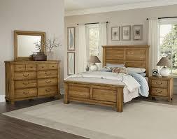 Vaughan-Bassett American Oak 4pc Mansion Bedroom Set in Honey Oak