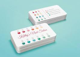 Nail Salon Business Card Template Stylish Beauty Business Card