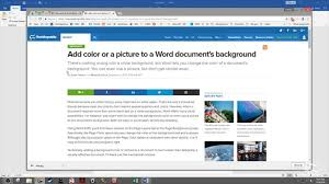 How To Add Colors Or Images To The Background Of Your Word Documents