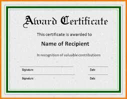 Sample Of Awards Certificates Cheapscplays Com