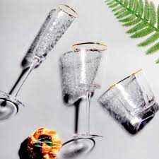 Diamond glass <b>Бокал для шампанского 200</b> мл., золотая оправа ...
