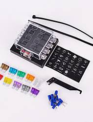 the connection auto parts com 8 way circuit car fuse box 32v dc blade fuse holder box block auto car boat