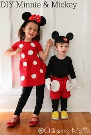 felt polka dots mickey and minnie costumes