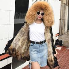 very warm real fur european women winter coat 2018 new winter jacket women down jacket female