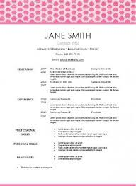 Edit Resume For Free Free Printable Pretty Pink Resume Template That Can Be