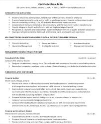 MBA Finance Resume Format