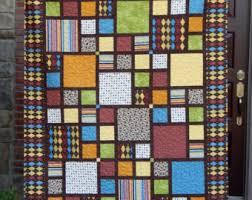 Modern Lap Quilt Contemporary Quilt Mid Century Modern & Modern Quilt, Large Lap Quilt, Argyle Quilt, Masculine Quilt, Quilt for a Adamdwight.com