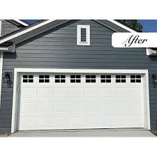 magnetic garage door windows decorative black window decals for two car garage magnets hardware