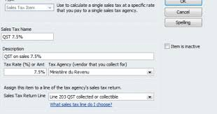 7 5 Sales Tax Chart How To Update Quickbooks For The 2011 Qst Rate Increase