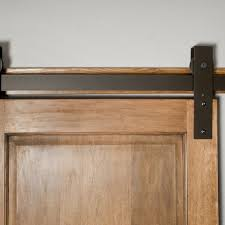 hand made interior barn door hardware flat track installation by basin custom custommade com