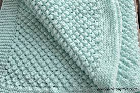 Baby Blanket Pattern Extraordinary Easy Knitting Patterns Popcorn Baby Blanket Peace But Not Quiet
