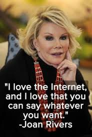Joan Rivers Has Died | Joan Rivers, Jokes and Rivers via Relatably.com