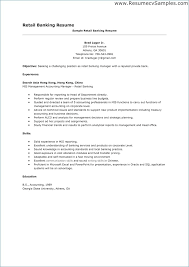 Bank Manager Resume New Banking Resume Sample Pour Eux Com