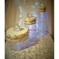 crystal chandelier wedding cake stand image gallery of wedding cake stand with crystals 11 acrylic crystal