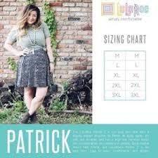 Patrick Size Chart
