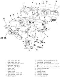 23 the instrument panel removal and installation ponents 1987 91 monteros