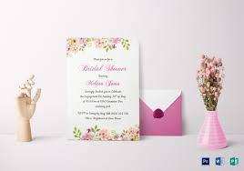 Bridal Shower Template Magnificent 48 Bridal Shower Invitations Templates PSD Invitations Free