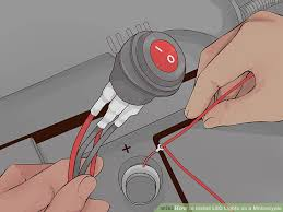 3 easy ways to install led lights on a motorcycle wikihow image titled install led lights on a motorcycle step 8