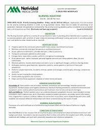 Cna Job Description For Resume Luxury Nursing Assistant Resume