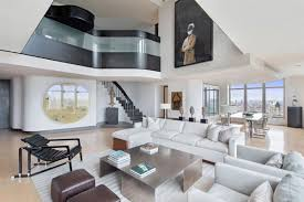 Stairway Penthouse Manhattan Staircase Contemporary Black Marble Flooring New  York Apartment Rentals Nyc Rental Apartments Rent ...