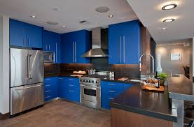what impression does the kitchen with blue cabinets create some say this color affects the as follows the appetite is reducing