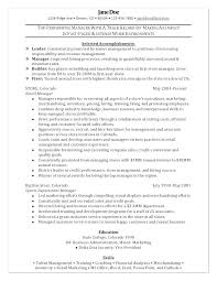 Manager Resume Objective Examples – Rainbowbrain.me