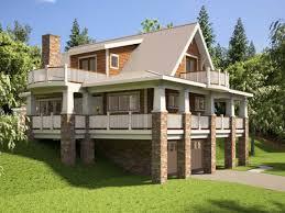 photo of sloped lot house plans walkout basement
