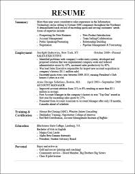 Resume Template Resume Format Tips Free Career Resume Template