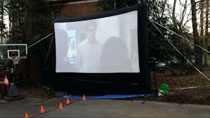 outdoor projector screen material home big screen s pictures on amusing outdoor projector screen ideas stand