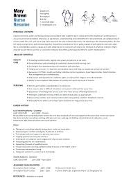Nursing Resume Template Simple Nursing Resume Template Word Entry Level Nurse Free Downloadable