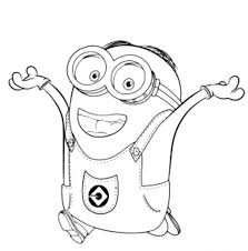 Film : Bob The Minion Coloring Pages Minions To Colour In Free ...