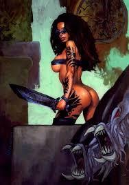 black amazon warrior. Perfect Warrior Black Amazon Female Warriors  Savage Warrior Women In ADAM GEYERu0027s  Painted Characters Comic Art  To Warrior C