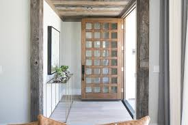 multi paneled front door view full size