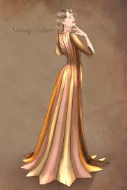 1930 Designers Vintage Fashion Writing Notebook Diary 1930 Dress Fashion