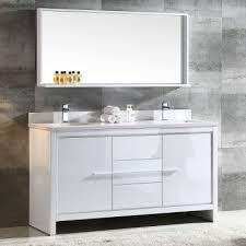 60 inch bathroom vanity mirror. 60 inch modern double sink bathroom white vanity w/ mirror - fvn8119wh 63