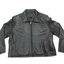 details about excelled collection full zip casual mens black basic genuine leather jacket 2xl
