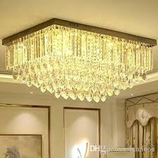 romantic chandelier led chandeliers ceiling light led rectangle modern romantic crystal ceiling lights for living room