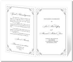 Free Church Programs Template Happycartco Free Printable Wedding