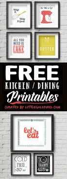 dining room printable art. Kitchen Free Printables \u2022 Little Gold Pixel Dining Room Printable Art A
