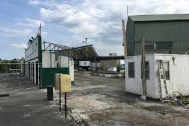 the demolition of the disabled enclosure at home park between the grandstand and the devonport