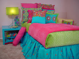 turquoise lime green and hot pink dream homegirls room hot pink and aqua bedding