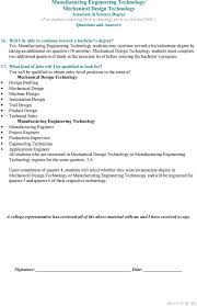 Mechanical Engineering Design Technologist Jobs Associate Degree In Manufacturing Engineering Technology